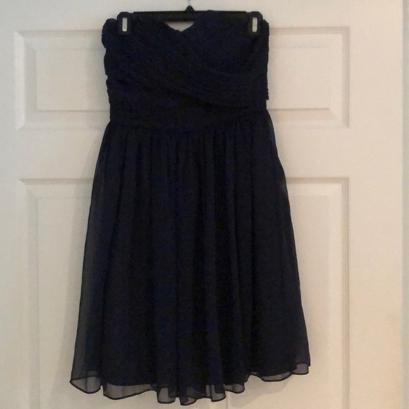 J. Crew Factory Dresses & Skirts - JCrew Navy Strapless Dress